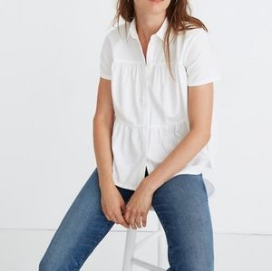 Madewell Tiered White Button Down